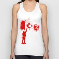 canada Tank Tops featuring Canada Tagger by Kris alan apparel