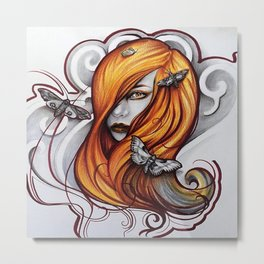 Lady Moth  Metal Print