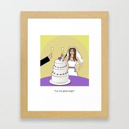 Newlyweds Framed Art Print