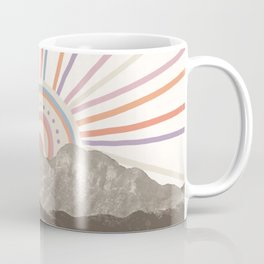 Summerlin Mountain // Abstract Vintage Mountains Summer Sun Vibe Drawing Happy Wall Hanging Coffee Mug