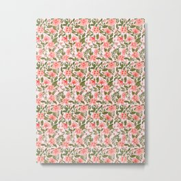Pink Botanical Dream Pattern Metal Print
