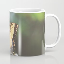 Eastern Tiger Swallowtail Butterfly on Thistle Photography Coffee Mug