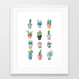 drawing cacti Framed Art Print