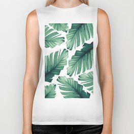 Tropical Banana Leaves Dream #3 #foliage #decor #art #society6 Biker Tank
