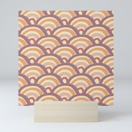 trend rainbow pattern Mini Art Print