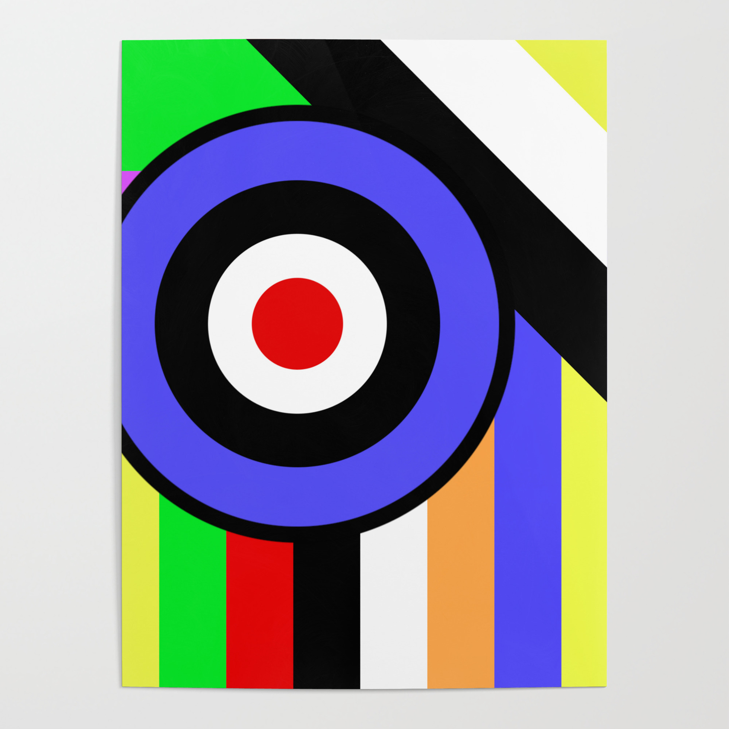 Bold Geometry - Abstract, Geometric, Retro Art Poster by printpix
