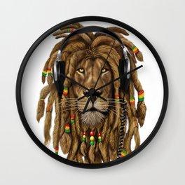 Lion Dreadlocks Rastafari T-Shirt & accessories Wall Clock