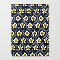 abstract white flower pattern Canvas Print
