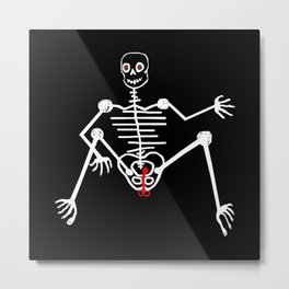 White Skeleton Male Metal Print