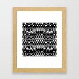 Brittany Spaniel fair isle christmas dog breed pet pattern pupper gifts Framed Art Print