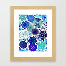 The Blue Garden Framed Art Print