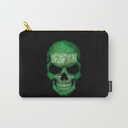 Dark Skull with Flag of Saudi Arabia Carry-All Pouch