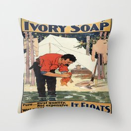 Vintage poster - Soap Throw Pillow