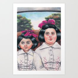 Ela and Bella. Art Print