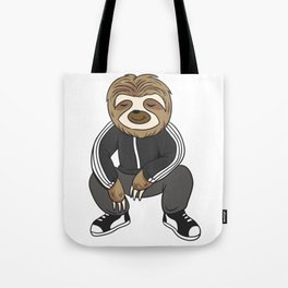 Cute Sloth Squatting Like A Slav Tote Bag