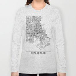 Copenhagen White Map Long Sleeve T-shirt