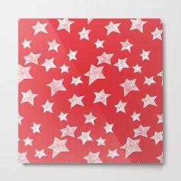 Christmas stars pattern Metal Print