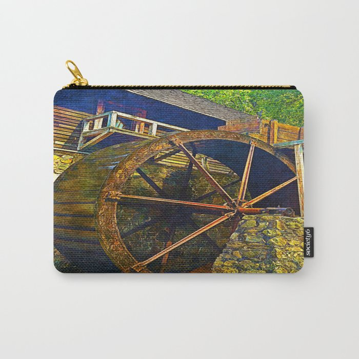 Gristmill Water Wheel Carry-All Pouch