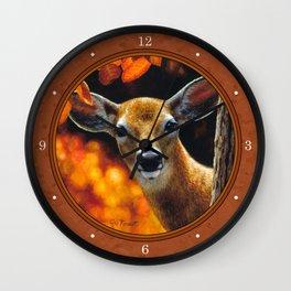 Whitetail Deer Face Wall Clock