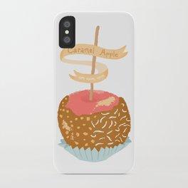 Caramel Apple om nom nom iPhone Case