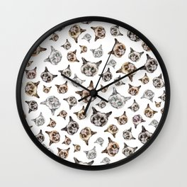 Cat Power on White Wall Clock