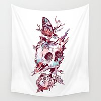 et Wall Tapestries featuring Mors et Natura 2.0 by Norman Duenas