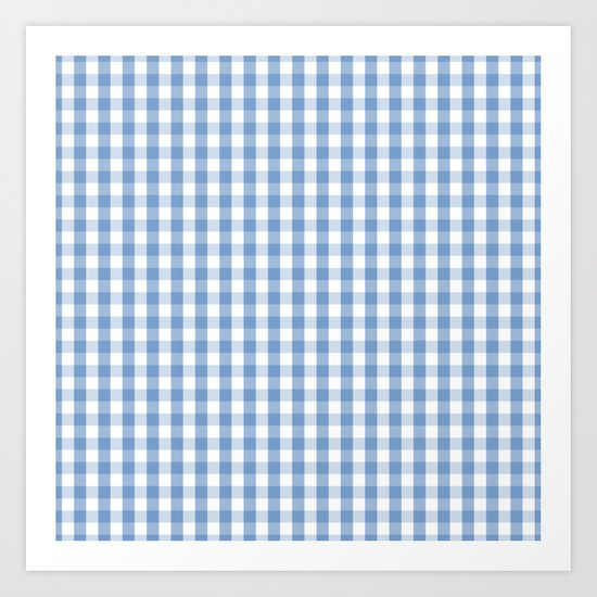 Classic Pale Blue Pastel Gingham Check by podartist