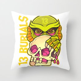 13 Burials - Lurking creature Throw Pillow