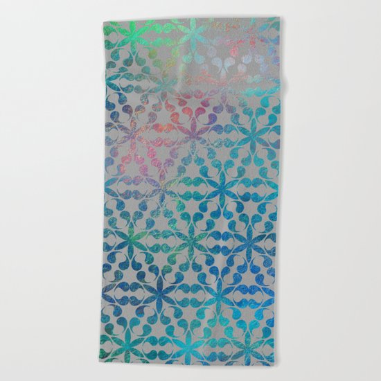 Flower of Life Variation - pattern 3 Beach Towel