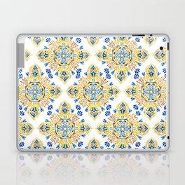 Wheat field with cornflower - mandala pattern Laptop & iPad Skin