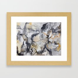 Cliffs of Rust + Ash Framed Art Print