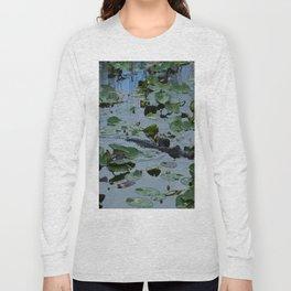 Florida Gator Amongst The Waterlilies Long Sleeve T-shirt