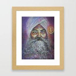 YOGI BHAJAN Framed Art Print
