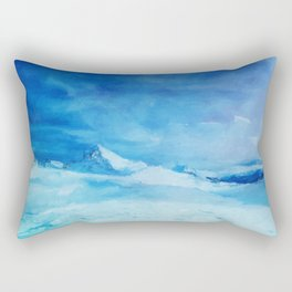 Huge and blue Rectangular Pillow