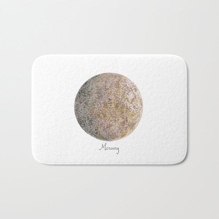Mercury planet Bath Mat