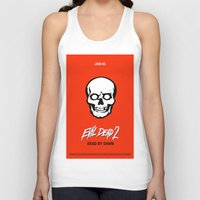 evil dead Tank Tops featuring Evil Dead 2 - Red by Dukesman
