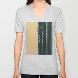 Portrait of a Cactus Unisex V-Neck