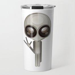 Funny big eyes E.T. Travel Mug