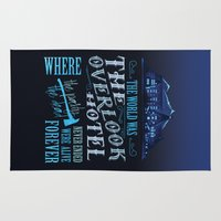 stephen king Area & Throw Rugs featuring The World Was The Overlook Hotel - Stephen King Quote by Evie Seo