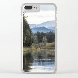 Leaburg Canal in the Fall Clear iPhone Case