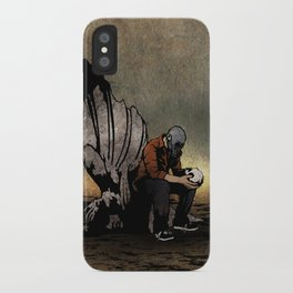 The Angel And The Skull iPhone Case
