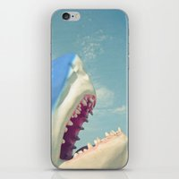 shark iPhone & iPod Skins featuring Shark! by Cassia Beck