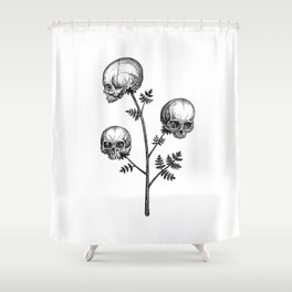 Poison Hemlock Shower Curtain