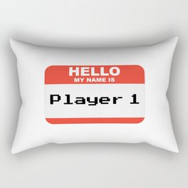 Hello my name is Player 1 Rectangular Pillow