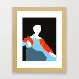 Pop Portrait · Ingres 6 Framed Art Print