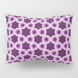 Silver Foil Honeycomb Circular Hexagon Pattern in Lavender Pillow Sham