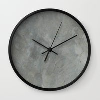 concrete Wall Clocks featuring Concrete by HelmichDesign