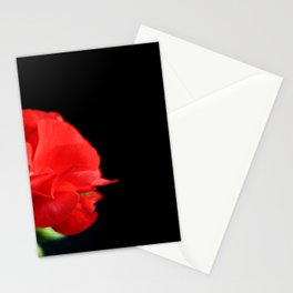 Red on black Stationery Cards