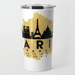 PARIS FRANCE SILHOUETTE SKYLINE MAP ART Travel Mug