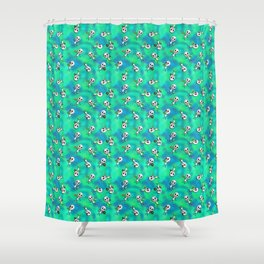 Invite an Alien over for Junk Food and Beer Shower Curtain
